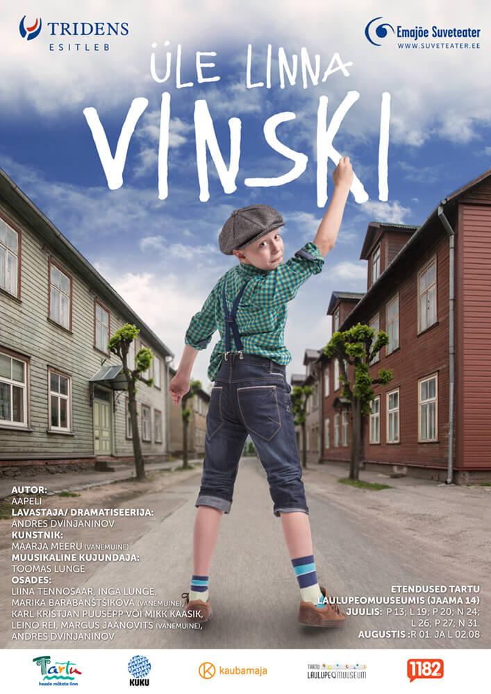 Plakati kujundus – üle linna Vinski