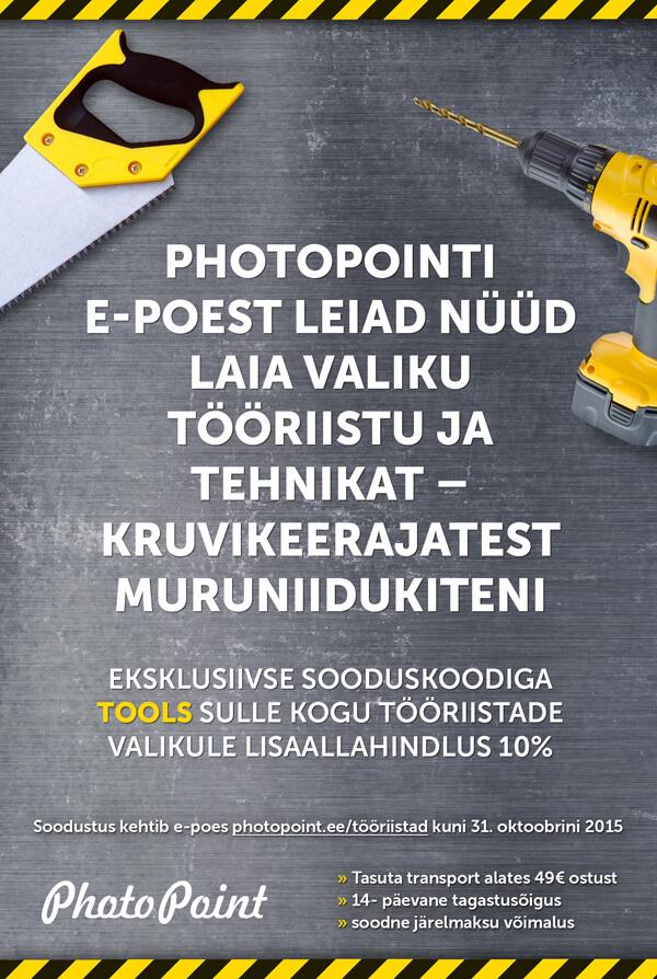 Flayeri kujundus Photopointile
