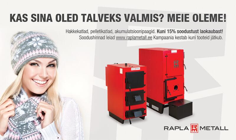 Rapla Metall tootefotod ja reklaamid ajalehes