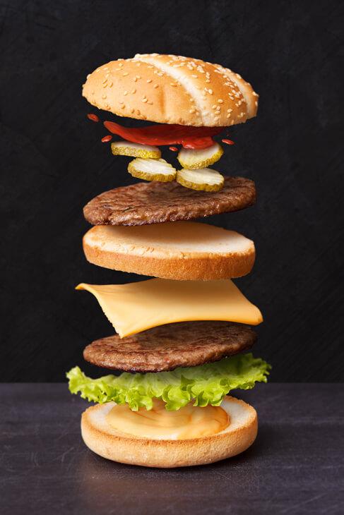 Toidufoto, grillburger