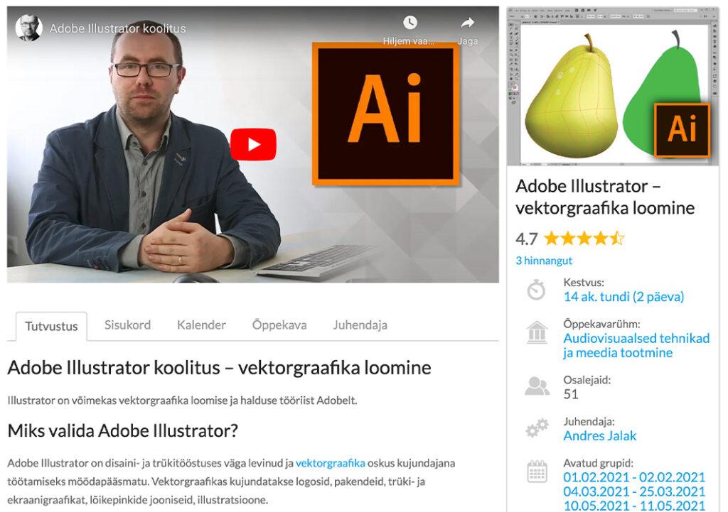 Adobe Illustratori koolitus